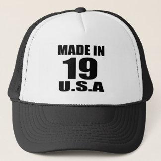 MADE IN 19 U.S.A BIRTHDAY DESIGNS TRUCKER HAT
