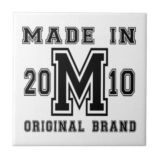 MADE IN 2010 ORIGINAL BRAND BIRTHDAY DESIGNS TILE
