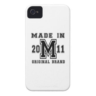 MADE IN 2011 ORIGINAL BRAND BIRTHDAY DESIGNS iPhone 4 CASE
