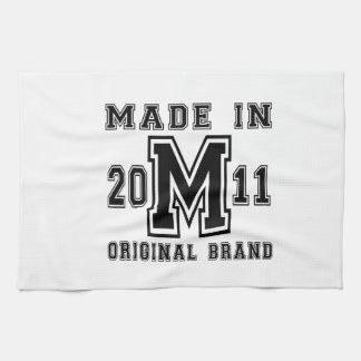 MADE IN 2011 ORIGINAL BRAND BIRTHDAY DESIGNS KITCHEN TOWEL