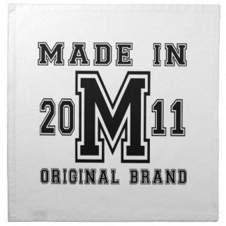 MADE IN 2011 ORIGINAL BRAND BIRTHDAY DESIGNS NAPKIN