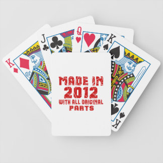 Made In 2012 With All Original Parts Bicycle Playing Cards