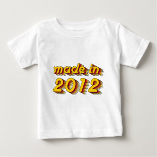 Made in 2012 (Yellow&Red) Baby T-Shirt