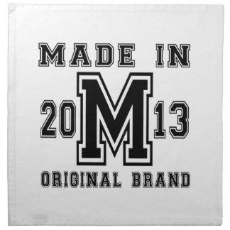 MADE IN 2013 ORIGINAL BRAND BIRTHDAY DESIGNS NAPKIN