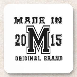 MADE IN 2015 ORIGINAL BRAND BIRTHDAY DESIGNS COASTER