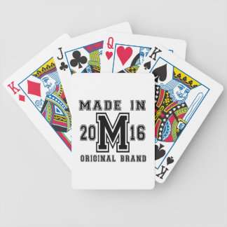MADE IN 2016 ORIGINAL BRAND BIRTHDAY DESIGNS BICYCLE PLAYING CARDS