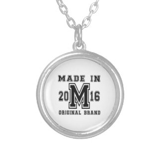 MADE IN 2016 ORIGINAL BRAND BIRTHDAY DESIGNS SILVER PLATED NECKLACE