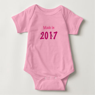 Made in 2017 baby pink onsie baby bodysuit