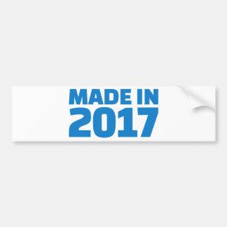 Made in 2017 bumper sticker
