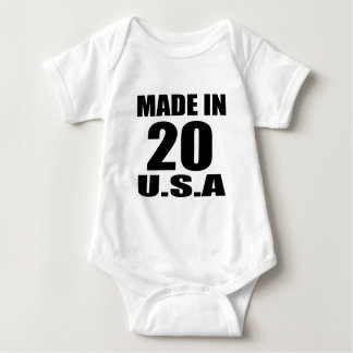 MADE IN 20 U.S.A BIRTHDAY DESIGNS BABY BODYSUIT