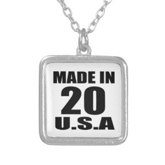 MADE IN 20 U.S.A BIRTHDAY DESIGNS SILVER PLATED NECKLACE