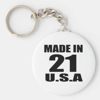 MADE IN 21 U.S.A BIRTHDAY DESIGNS KEYCHAIN