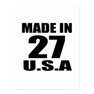 MADE IN 27 U.S.A BIRTHDAY DESIGNS POSTCARD