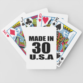 MADE IN 30 U.S.A BIRTHDAY DESIGNS BICYCLE PLAYING CARDS