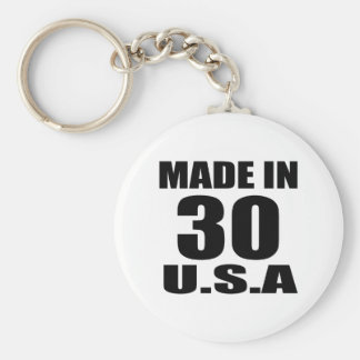 MADE IN 30 U.S.A BIRTHDAY DESIGNS KEYCHAIN