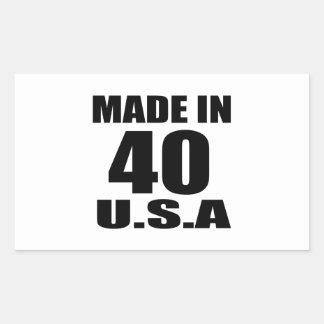 MADE IN 40 U.S.A BIRTHDAY DESIGNS STICKER
