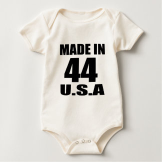 MADE IN 44 U.S.A BIRTHDAY DESIGNS BABY BODYSUIT