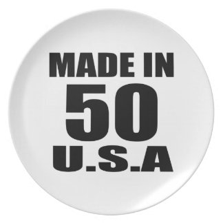 MADE IN 50 U.S.A BIRTHDAY DESIGNS PLATE
