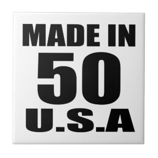 MADE IN 50 U.S.A BIRTHDAY DESIGNS TILE
