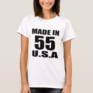MADE IN 55 U.S.A BIRTHDAY DESIGNS T-Shirt