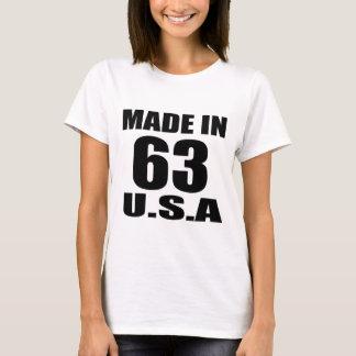 MADE IN 63 U.S.A BIRTHDAY DESIGNS T-Shirt