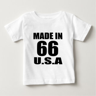 MADE IN 66 U.S.A BIRTHDAY DESIGNS BABY T-Shirt
