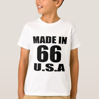 MADE IN 66 U.S.A BIRTHDAY DESIGNS T-Shirt