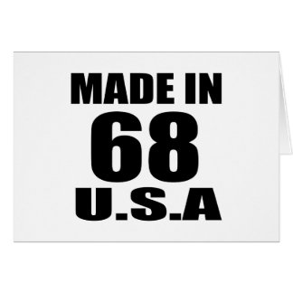 MADE IN 68 U.S.A BIRTHDAY DESIGNS CARD