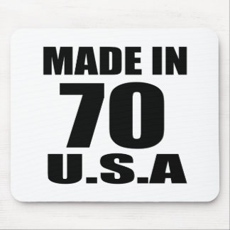 MADE IN 70 U.S.A BIRTHDAY DESIGNS MOUSE PAD