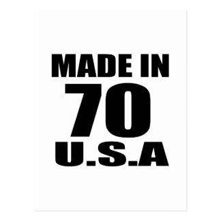 MADE IN 70 U.S.A BIRTHDAY DESIGNS POSTCARD