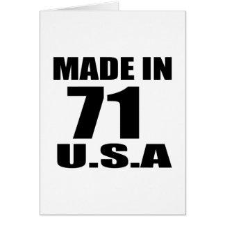 MADE IN 71 U.S.A BIRTHDAY DESIGNS CARD