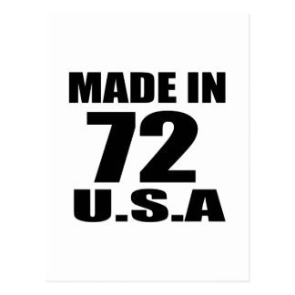 MADE IN 72 U.S.A BIRTHDAY DESIGNS POSTCARD