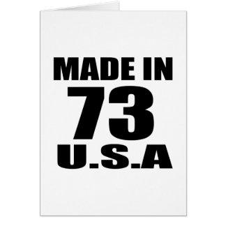MADE IN 73 U.S.A BIRTHDAY DESIGNS CARD