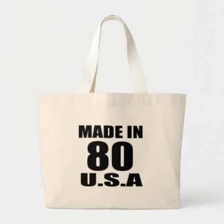 MADE IN 80 U.S.A BIRTHDAY DESIGNS LARGE TOTE BAG