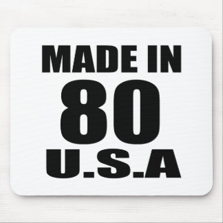 MADE IN 80 U.S.A BIRTHDAY DESIGNS MOUSE PAD