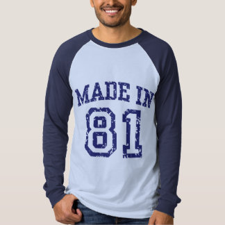 Made in 81 tee shirts