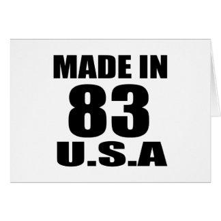 MADE IN 83 U.S.A BIRTHDAY DESIGNS CARD