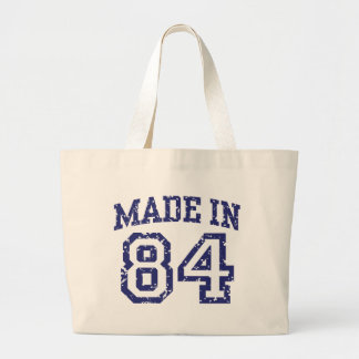 Made in 84 large tote bag