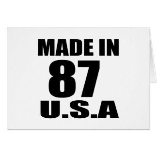 MADE IN 87 U.S.A BIRTHDAY DESIGNS CARD