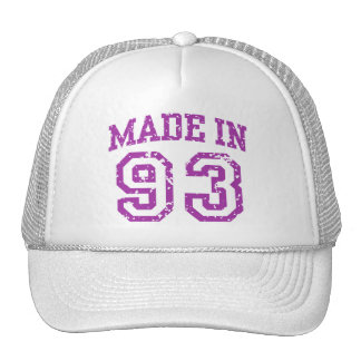 Made in 93 mesh hats