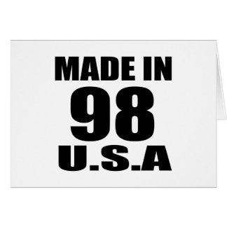 MADE IN 98 U.S.A BIRTHDAY DESIGNS CARD