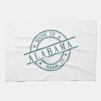 Made In Alabama Stamp Style Logo Green Kitchen Towel