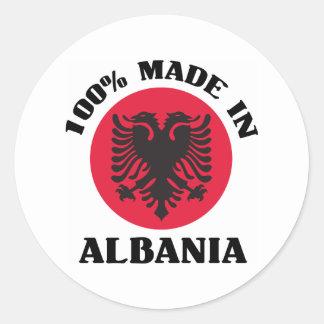 Made In Albania Classic Round Sticker