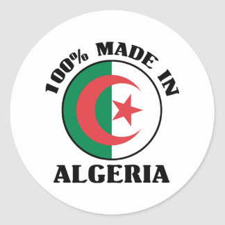 Made In Algeria Classic Round Sticker