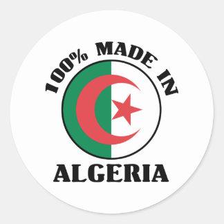 Made In Algeria Round Sticker