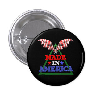 Made in America 1 Inch Round Button