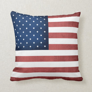 Made In America American Flag Throw Pillow