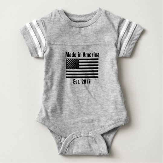 Made in America Baby Romper Bodysuit