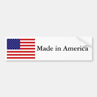 Made in America Bumper Sticker
