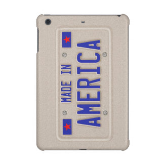 Made In America Car Licence Plate iPad Retina Case iPad Mini Cases